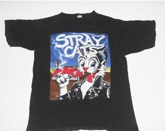 MEGA SALE vintage STRAY Cats  rock  tour t shirt