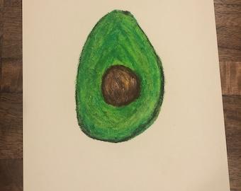 Avocado Oil Pastel Painting