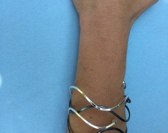 Black & White Bangles Silver Bracelet