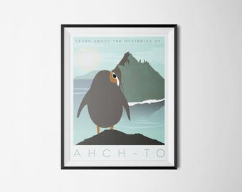 Star Wars The Last Jedi Ahch-To Porg Poster