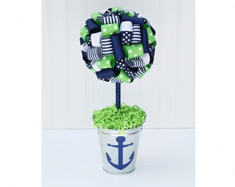 CENTERPIECE / Baby shower centerpiece / Table centerpiece / Nautical centerpiece / Nautical baby shower decoration