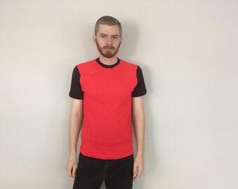 80s Soft & Thin Raglan T-Shirt size MEDIUM ~ 6028