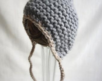 Baby Bonnet, Baby Hat, Baby Photo Prop, Newborn Photo Prop, Baby Boy Bonnet, Newborn Baby Hat, Newborn Photo Prop