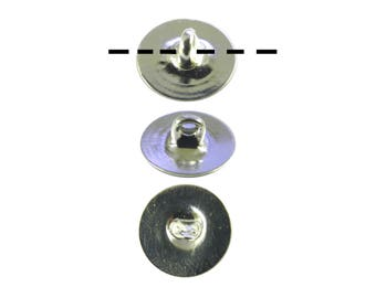 100 Silver Plated 6mm Glueable Button Backs Shanks.  DIY Make a button out of almost anything