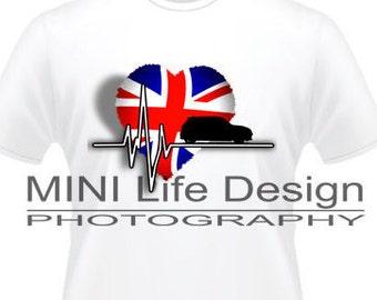 MINI British Heartbeat.... t-shirt