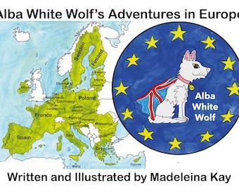 Alba White Wolf Goes to Europe