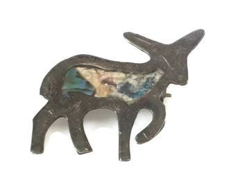 Silver Fox Silver Lamb Silver Dog Sterling Silver for Repair Craft Taxco Sterling Silver Pin, Taxco Brooch, 925 Taxco, Taxco Jewelry repair