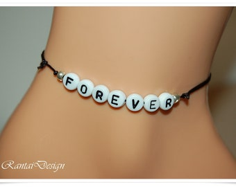 Black Anklet FOREVER foot jewelry beach Beach Ankle Bracelet