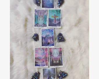 """TAROT reading """"CHAKRA ANALYSIS"""" - (find blockages/bring balance) • 7 cards • Spirit Guides give insight"""