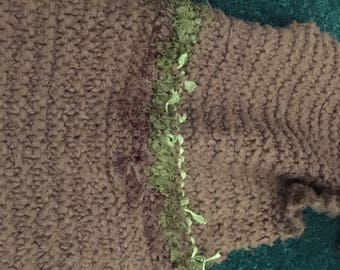 FINAL SALE PRICE!!   Super Soft Brown and Green Hand Knit Scarf