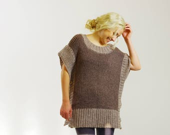 Oversized Womens Sweater Vest