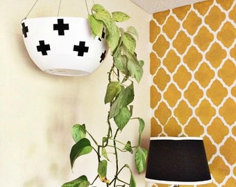 Trellis Pattern Wall Stencil or Floor Stencil for Painting DIY Wallpaper Decor for Moroccan or Modern Style Home