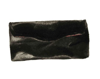 Black Elegance Faux Fur Clutch