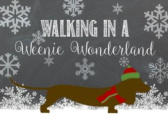 Walking In A Weenie Wonderland 8x10
