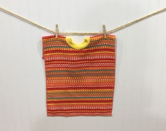 Towel Bib, toddler bib, pull over towel bib, Coral terry towel bib, baby and child care, baby feeding, large bib, girl bib, baby gift
