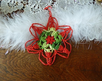 Red and green Christmas star