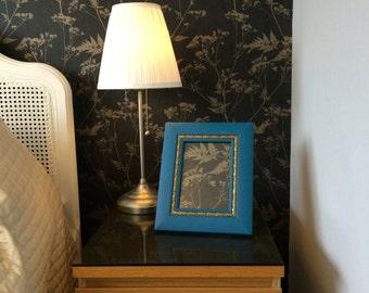 Ornamental Frame / Decorative Frame / Framed Fern Print / Fancy Frame / Elegant Frame / Teal & Gold Frame / Boho Decor / Botanical Print