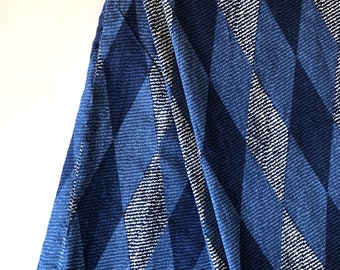 Indian Fabric by the yard, Indian Cotton Fabric, Geometric Diamond Print, Sewing and Quilting Fabric, All over print, Printed Indian Cloth