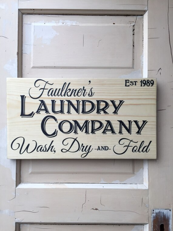 Laundry Sign Personalized, Farm House Laundry Sign, Vintage Rustic Laundry Room Decor, Wood Sign For Laundry Room, Wash Dry Fold Home Decor