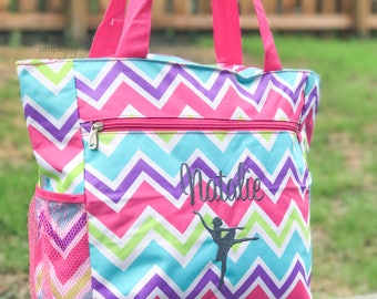 Gymnastic Bag, Personalized Gymnastic Bag, Personalized Dance Bag, Dance Bag for Girls, Monogram Gym Bag, Dance Mom, Pink, Purple Gym Bag
