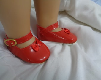 RED Patent Leather Shoes for 18 Inch Dolls- Fits Newer  American Girl Dolls