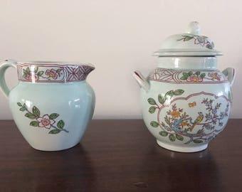 Sugar/creamer Calyxware set from England