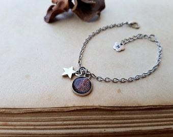 Star Bracelet, initial bracelet, Tiny Star Bracelet, Wish Bracelet, Stacking Bracelet, Minimalist Bracelet, personalized gift, Mars Bracelet