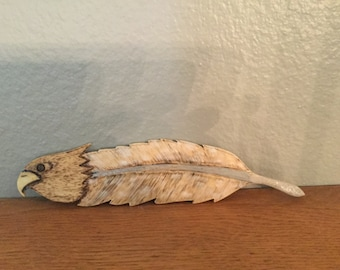 Eagle Feather - Carved (wood carving)