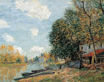 Alfred Sisley: Moret - The Banks of the River Loing. Fine Art Print/Poster (004389)