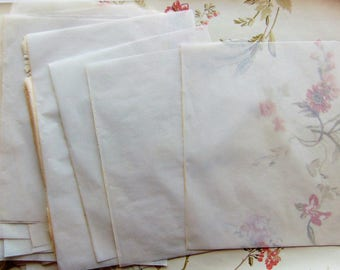 Antique Tissue Paper 1800's - 13 Pieces