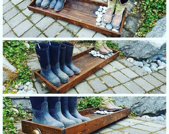 Rustic Boot Tray