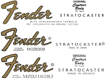 Three Assorted Stratocaster Decals