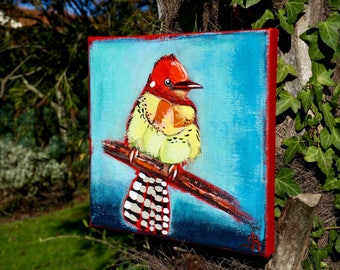 Unique modern colorful painting bird painting