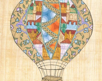 Printable Hot Air Balloon with Miniature & Illumination designs