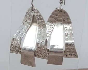 Taxco Mexico 925 Vintage Sterling Silver Dangle Earrings - Fabulous!