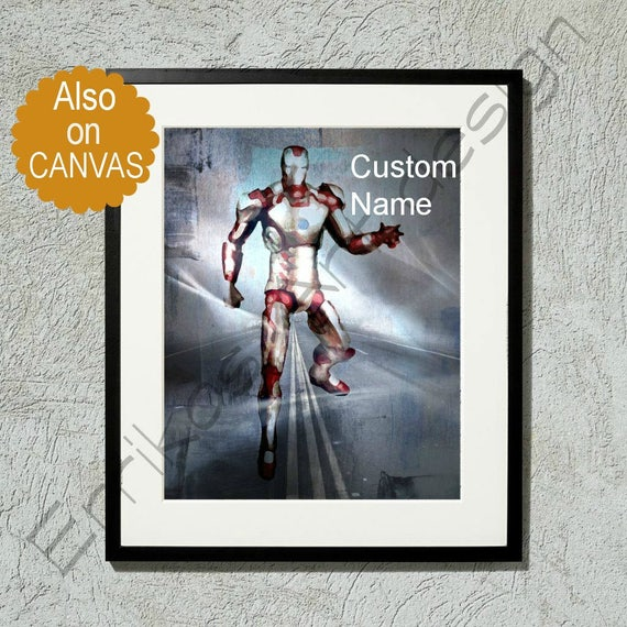 Iron Man Art Print Marvel Wall Art Avengers Art Superhero
