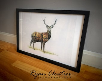 Autumnal Stag Print