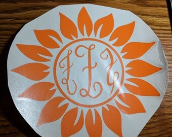 Sunflower Monogram Option 3