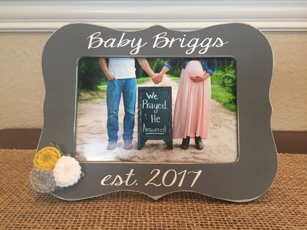 Pregnancy reveal baby announcement frame gift for new aunt uncle 2895 jeuxipadfo Choice Image