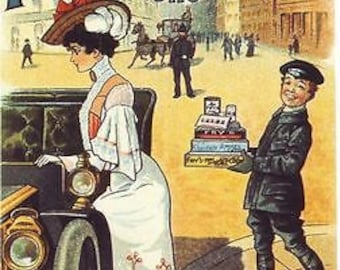 Edwardian Fry's Chocolate Cocoa Ad A3 Poster Reprint