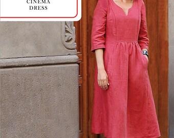 Liesl & Co PATTERN - Cinema Dress - Sizes 0-20