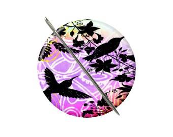 Aimant de colibris violet orange à l'aiguille minder Croix Couture Couture outil couture notion femme cadeau moins de 10 ans de collage shabby stuffer de bas