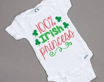 100% Irish Princess Onesie/Tshirt