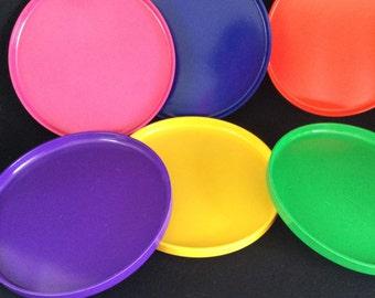 Vintage Colorful Plastic Plates - Dining \u0026 Serving - Kitchen Dining - Retro Multi Colored - & Retro plastic plates | Etsy