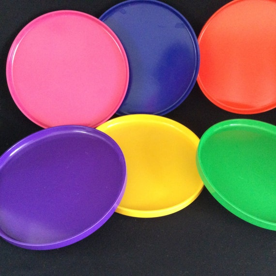 Like this item? & Vintage Colorful Plastic Plates Dining u0026 Serving Kitchen