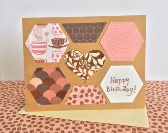 Birthday Cards Coffee Lovers Happy Rose Gold Latte