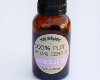 PInk Grape Fruit Essential Oil - 15ml bottle