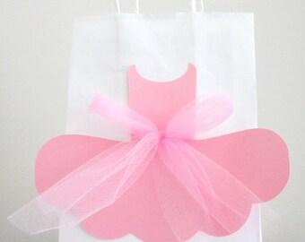 Ballerina Favor Bags, Tutu Goody Bags, Tutu Favor Bags, Ballet Favor Bags