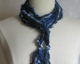 The Knotty Scarf in Denim Blues