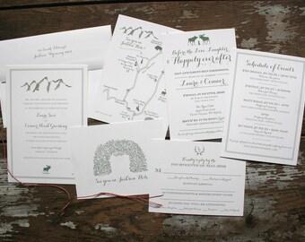 Mountain Classic Wedding Invitations (Laura Suite) - Deposit